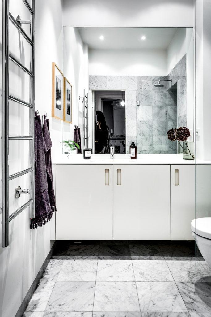Badrum Golv- och väggplattor Marmor Bianco Carrara